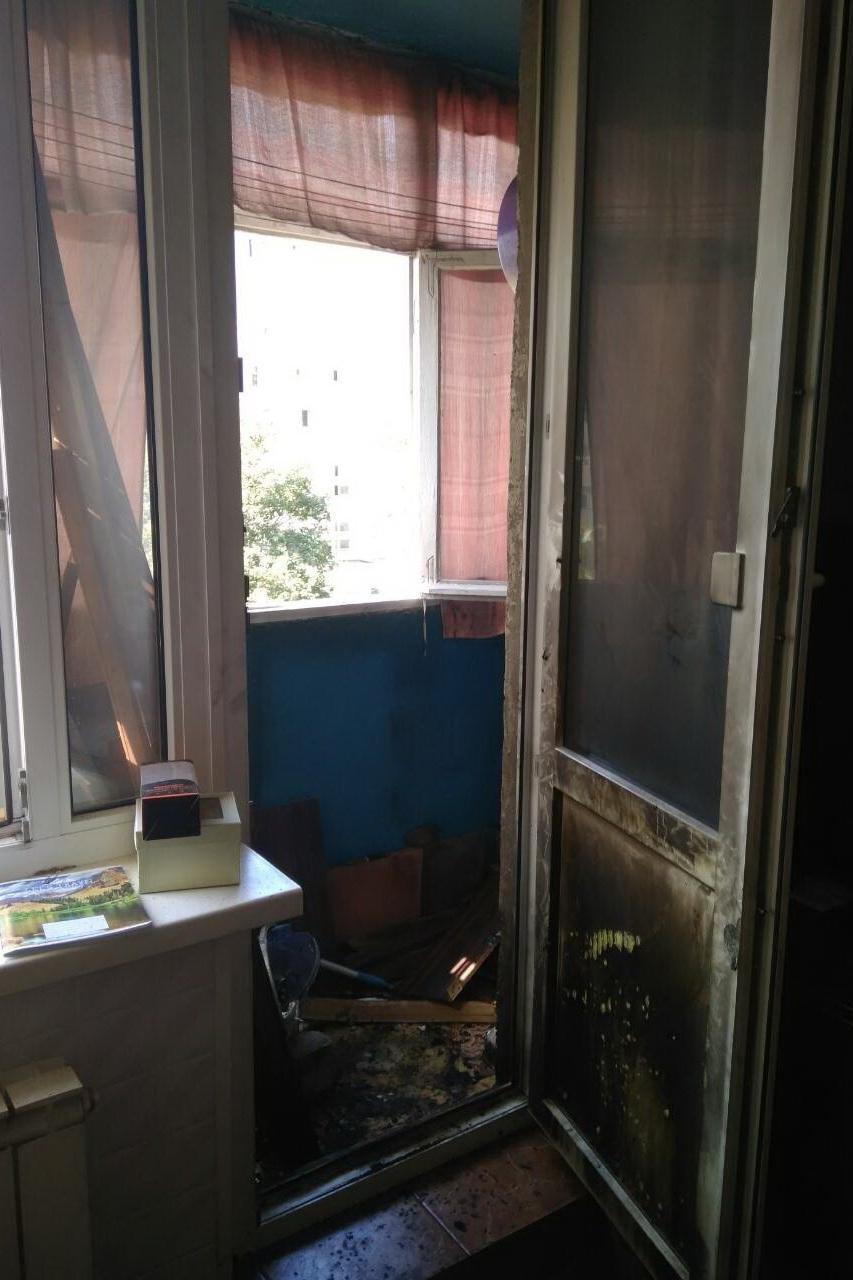 В Харькове мужчина чуть не сгорел из-за собственной неосторожности (ФОТО), фото-1