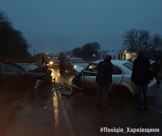 Лобовое столкновение Skoda и Chevrolet под Харьковом: погибший и 5 пострадавших (ФОТО), фото-1