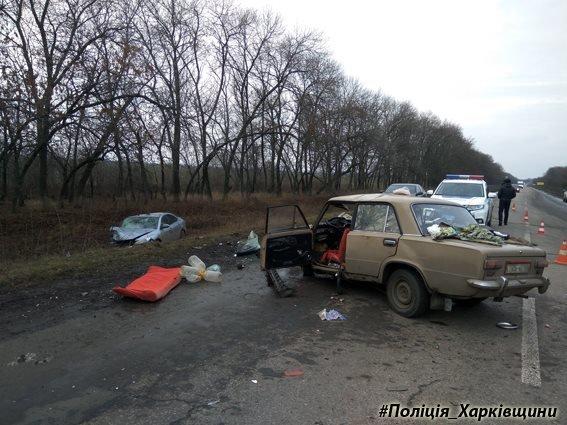 На Харьковщине столкнулись иномарка и ВАЗ: погибла женщина (ФОТО), фото-1