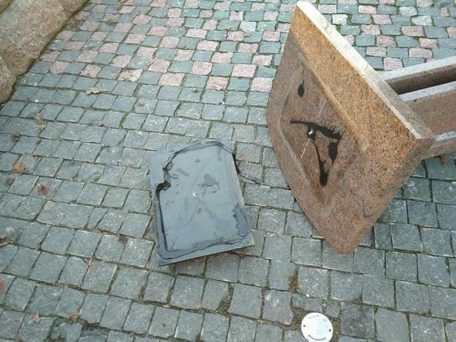 Под Харьковом неизвестные повредили памятник (ФОТО), фото-1