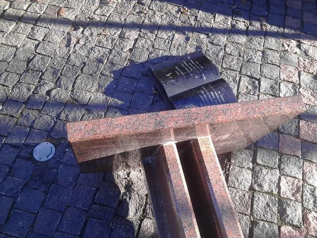 Под Харьковом неизвестные повредили памятник (ФОТО), фото-2
