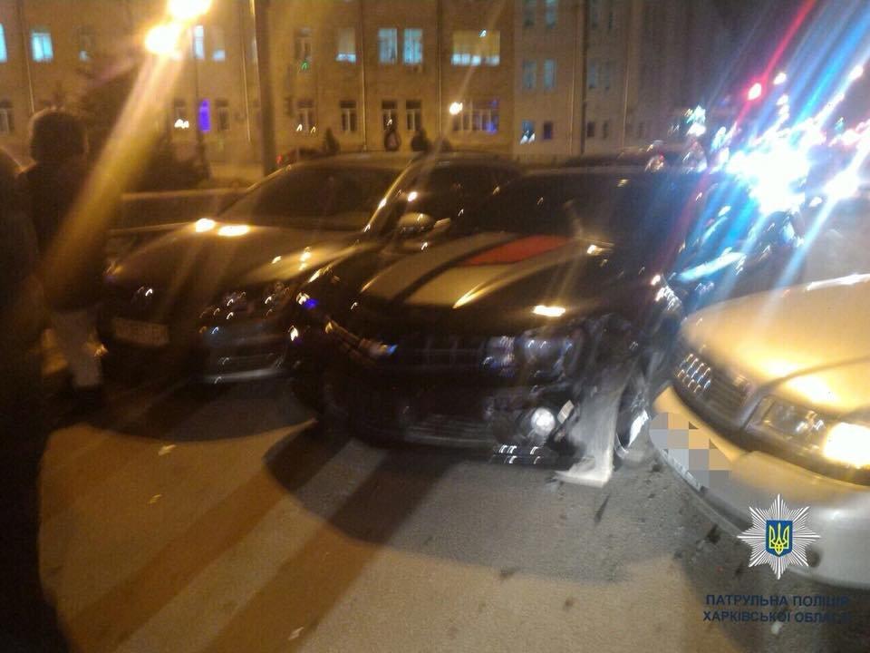 На Пушкинской столкнулись Audi, Chevrolet и Volkswagen (ФОТО), фото-1