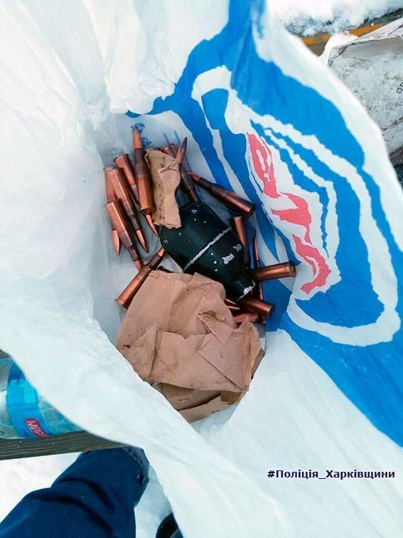 У харьковчанина на детской площадке изъяли сорок боеприпасов и гранату (ФОТО), фото-1