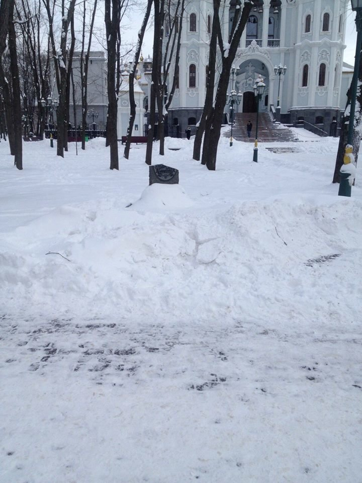 Харьковские полицейские разыскивают вандалов, повредивших памятный знак Ивану Сирко (ФОТО) , фото-2