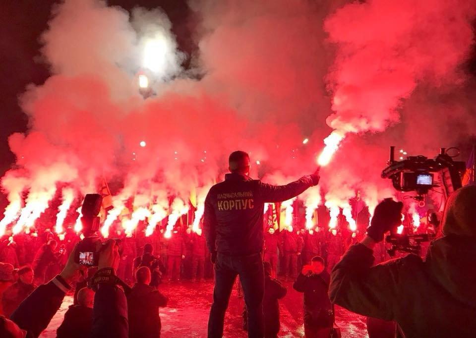 100-летие боя под Крутами: в Харькове прошло факельное шествие (ФОТО) , фото-6