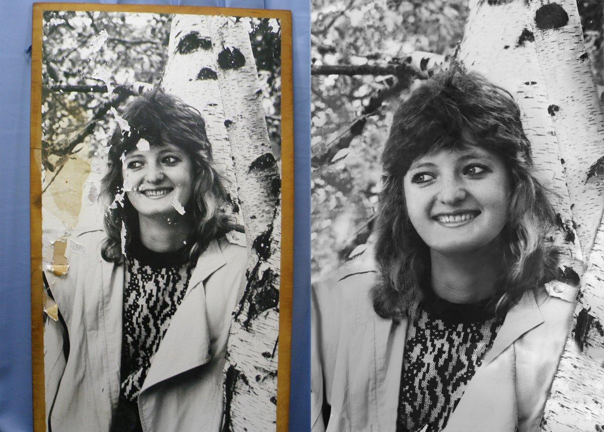 Реставрация поврежденных фотографий и портретов, любая сложность