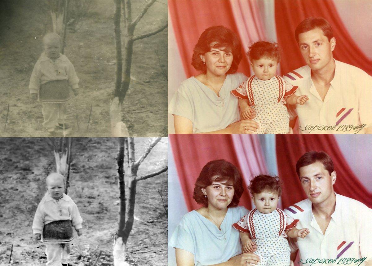 Реставрация старых фотографий, любая сложность