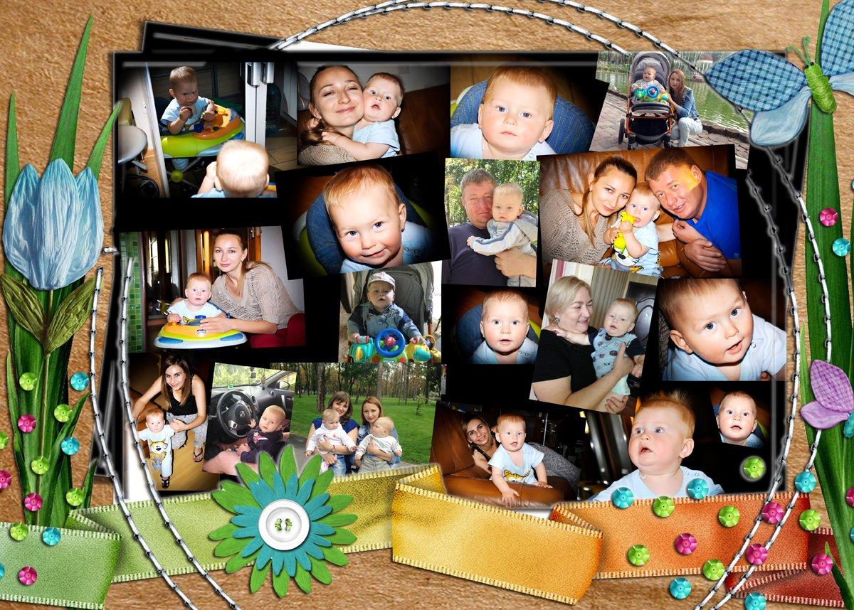 Детские фотоколлажи в любом стиле