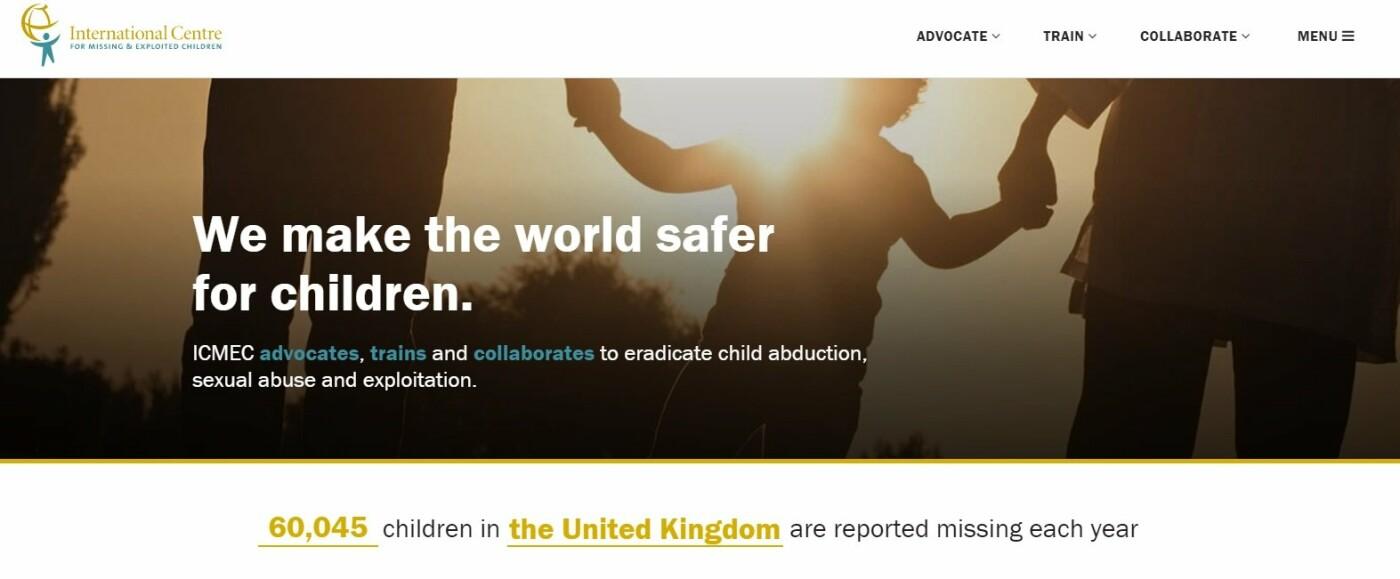 скриншот с сайта ICMEC