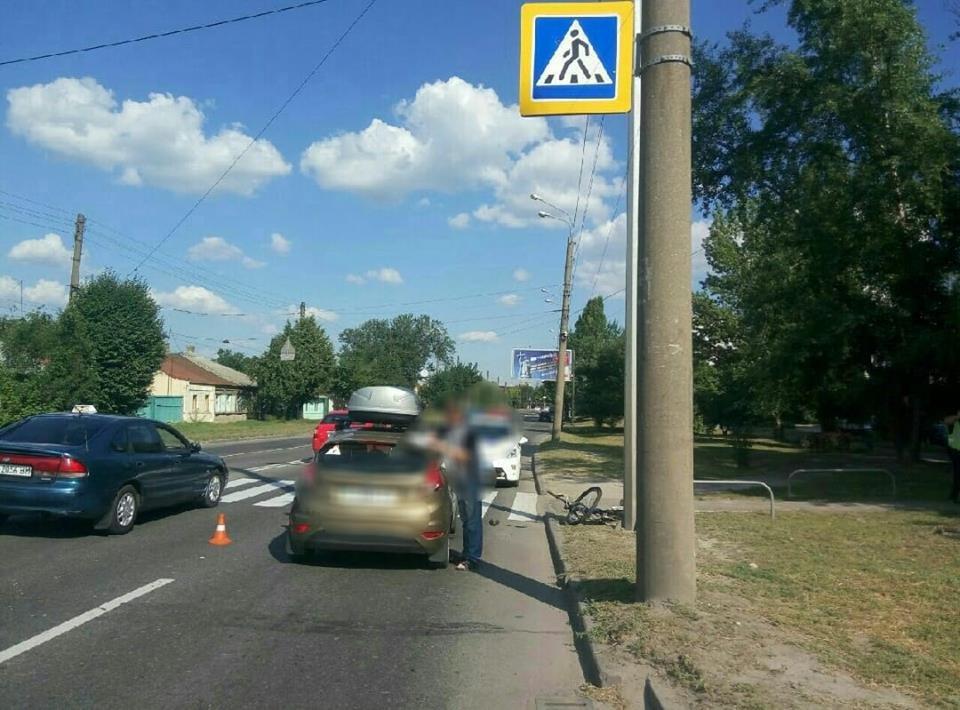 В Харькове не разминулись иномарка и велосипедист. Один человек в больнице, - ФОТО, фото-1