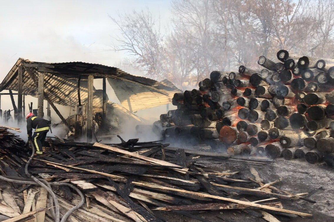 Масштабный пожар в Харькове. Спасатели тушили загоревшуюся лесопилку, - ФОТО, фото-3