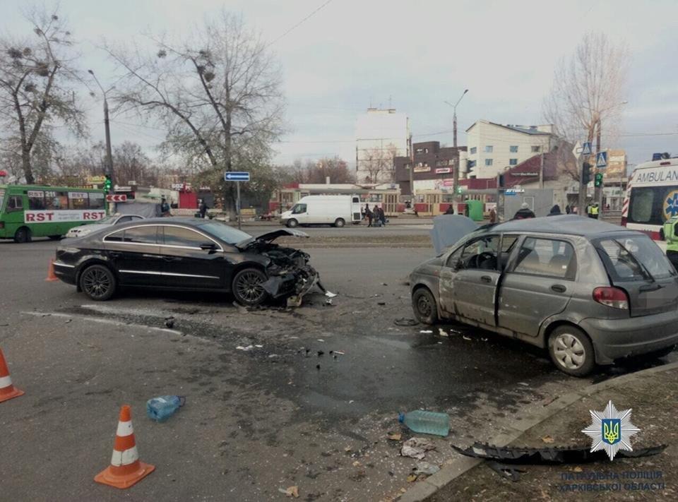 В Харькове столкнулись «Volkswagen» и «Daewoo», есть пострадавший, - ФОТО, фото-1