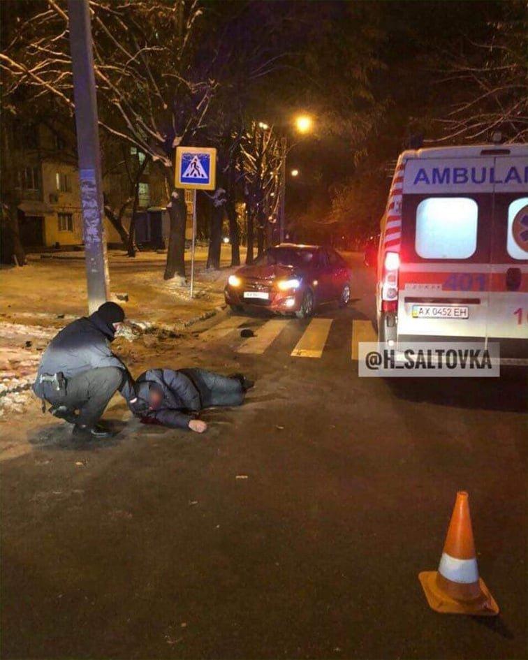 """На улице Бучмы """"Hyundai"""" сбил пьяного пешехода, - ФОТО, фото-1"""
