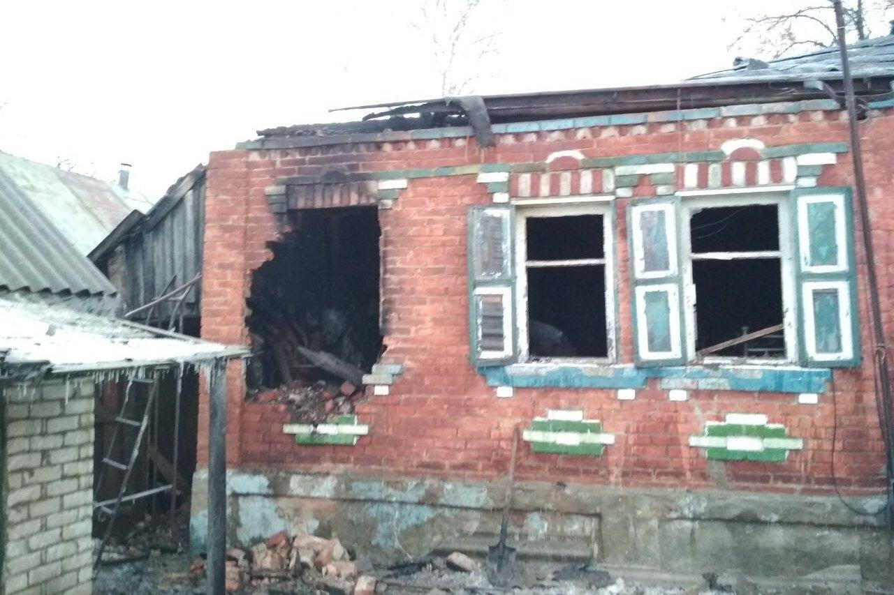 Под Харьковом в пожаре погибла пенсионерка, - ФОТО , фото-1
