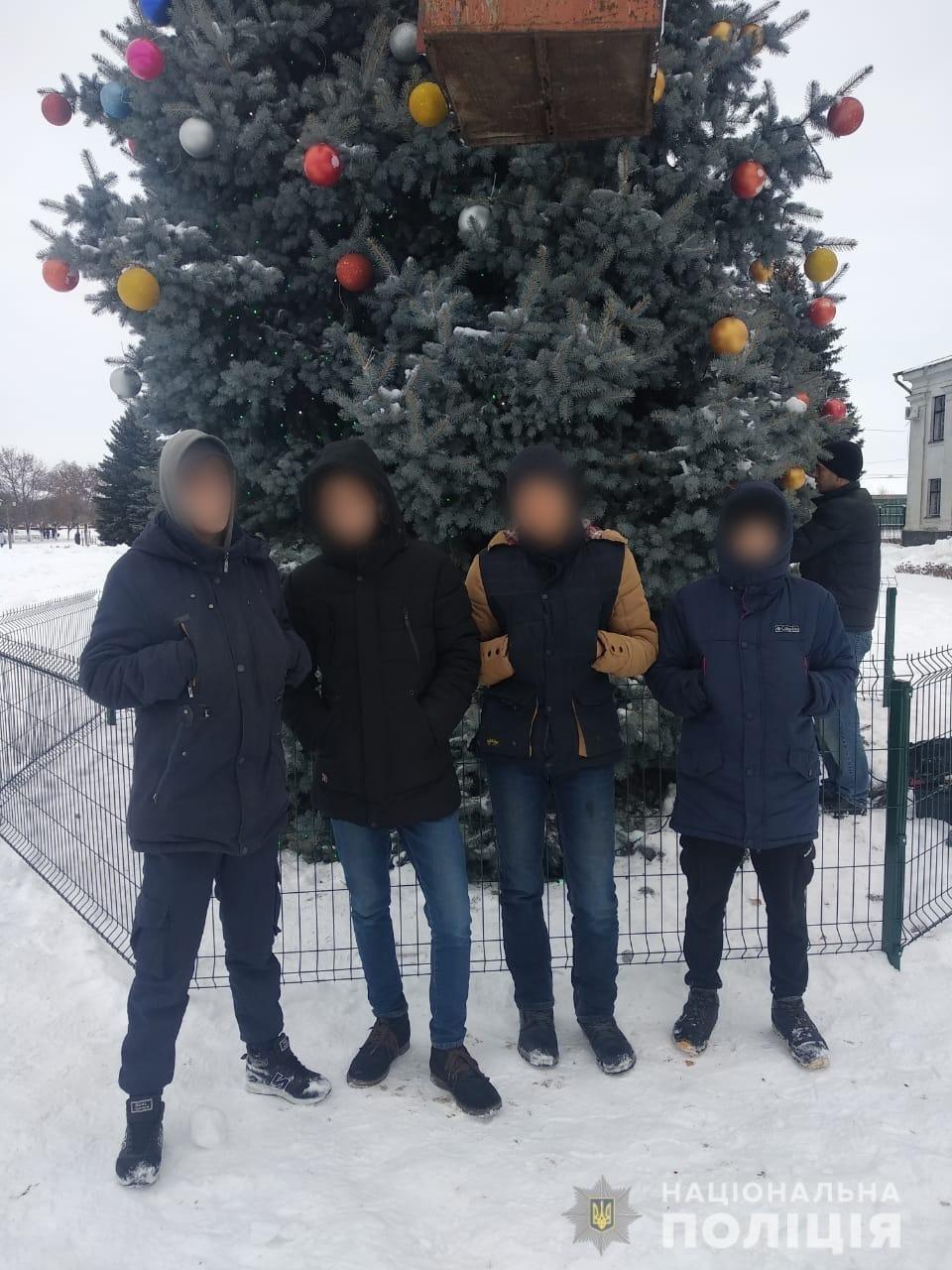 Под Харьковом подростки разнесли новогоднюю елку, - ФОТО, фото-3