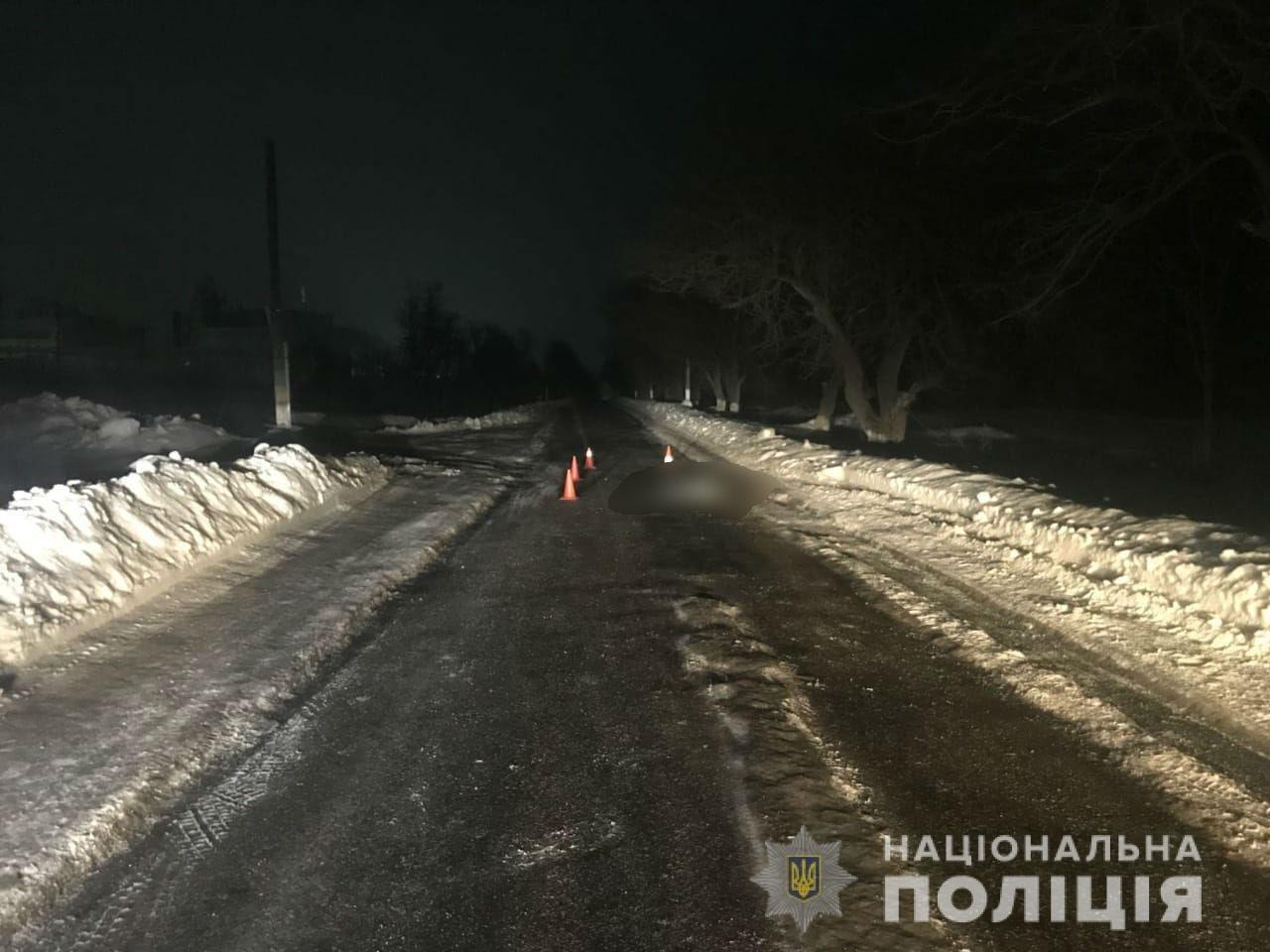ДТП на Харьковщине. На трассе автомобиль задавил пешехода, - ФОТО, фото-1