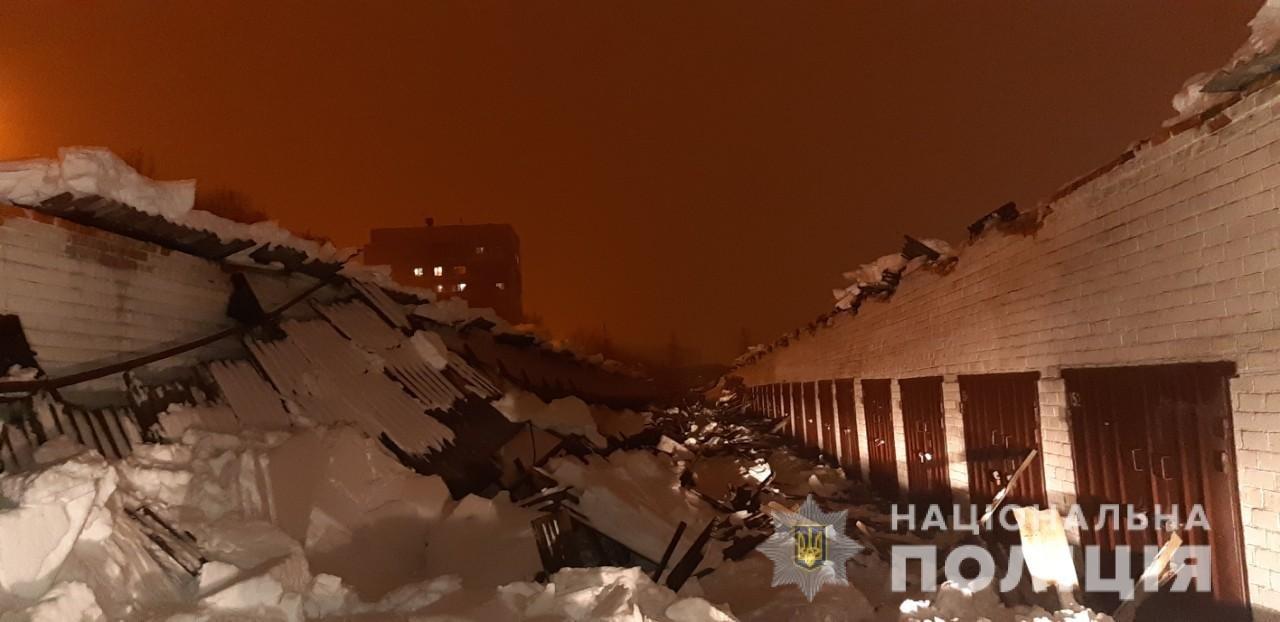 В харьковском гаражном кооперативе из-за снега обвалилась крыша. Есть пострадавшие, - ФОТО, фото-1