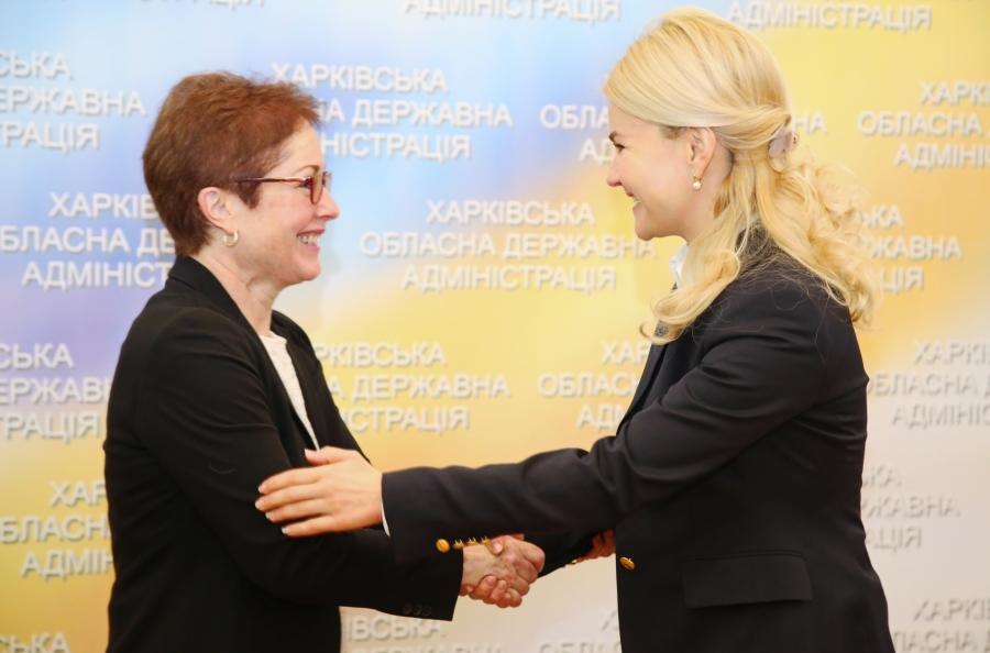 Юлия Светличная встретилась с Послом США в Украине Мари Йованович