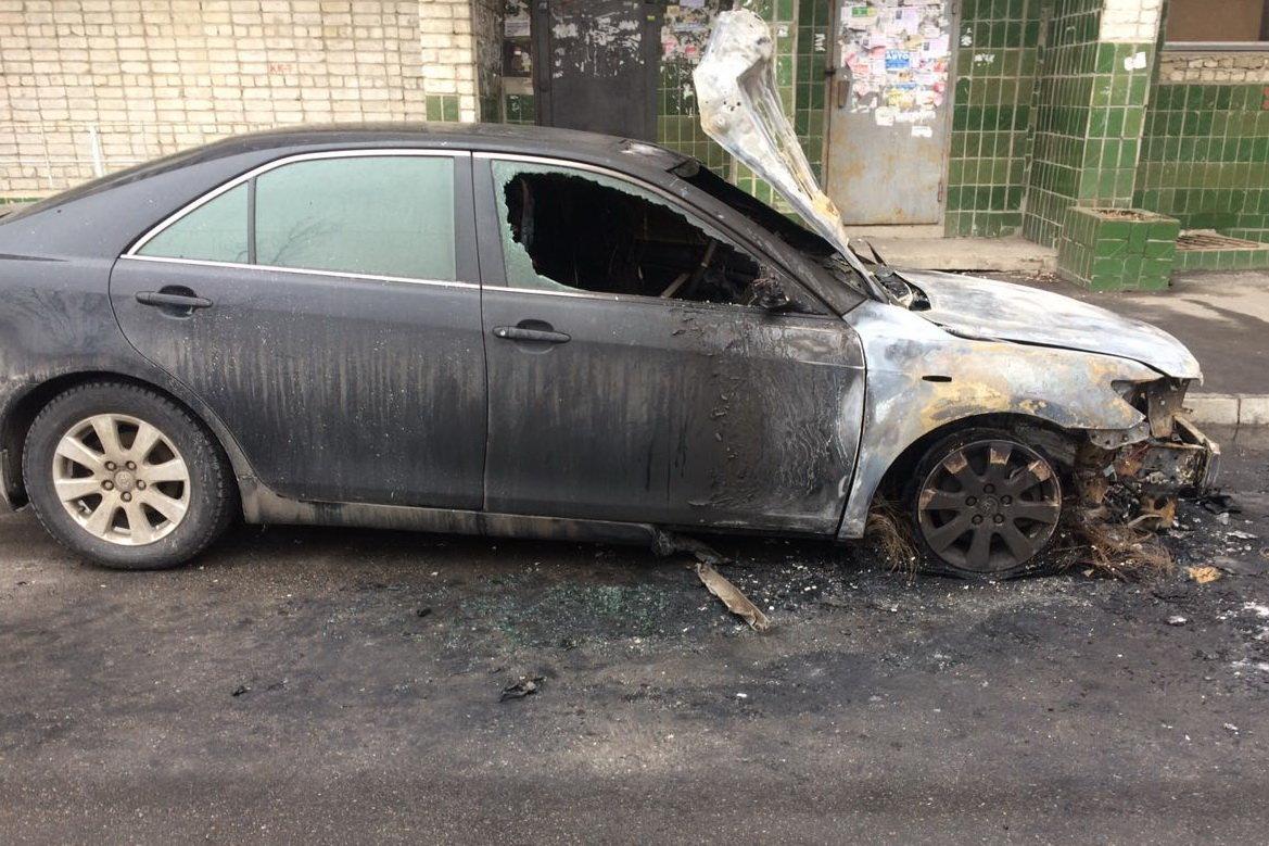 В Харькове ночью сгорела Toyota Camry, - ФОТО, фото-1