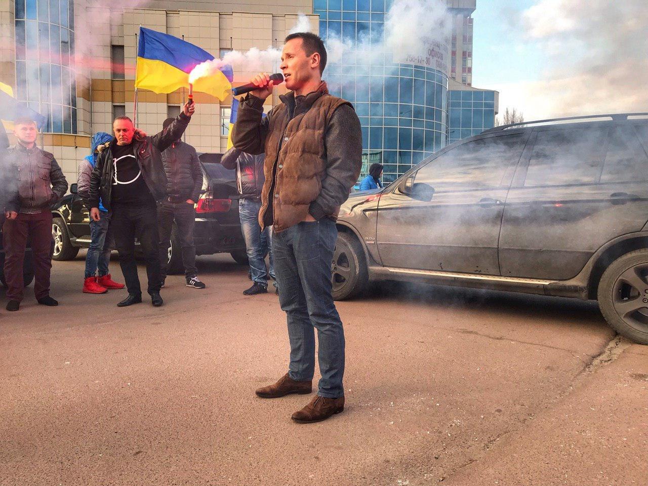 Кандидат в Президенти Дерев'янко підтримав автопробіг за доступні авто в Харкові (ФОТО, ВІДЕО), фото-3