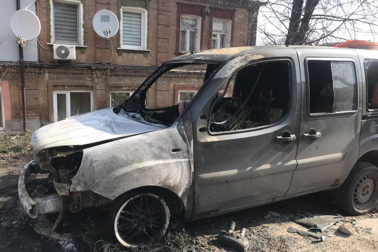"""В Харькове неизвестные сожгли автомобиль """"Fiat"""", - ФОТО, фото-1"""