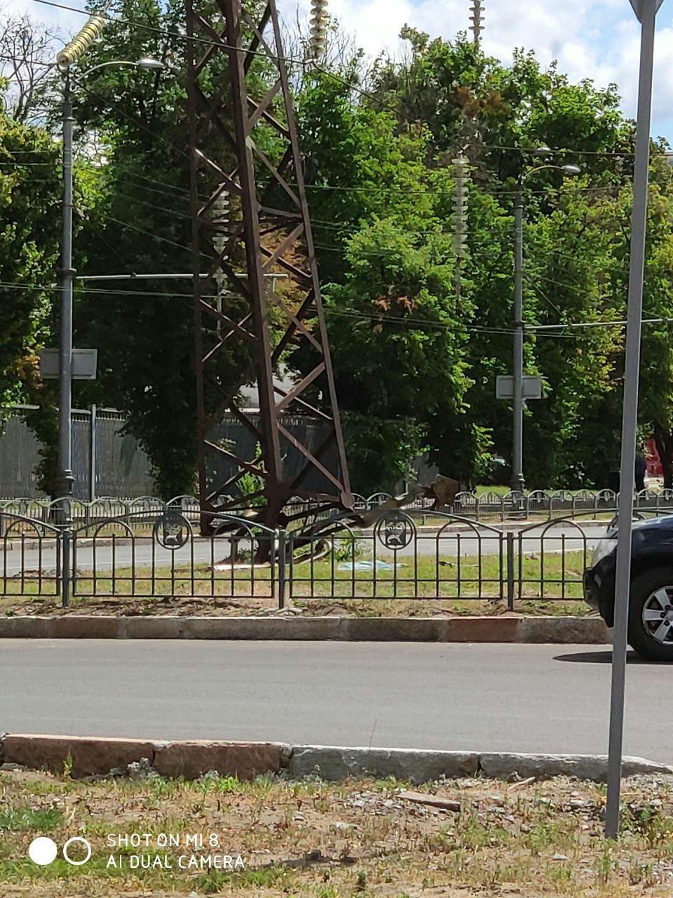 На Московском проспекте грузовик врезался в линию электропередач, - ФОТО, фото-4