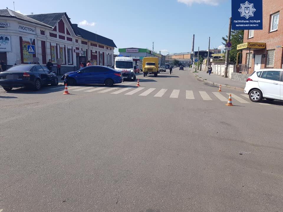В Харькове несколько авто не поделили дорогу: пострадал один из водителей, - ФОТО, фото-1