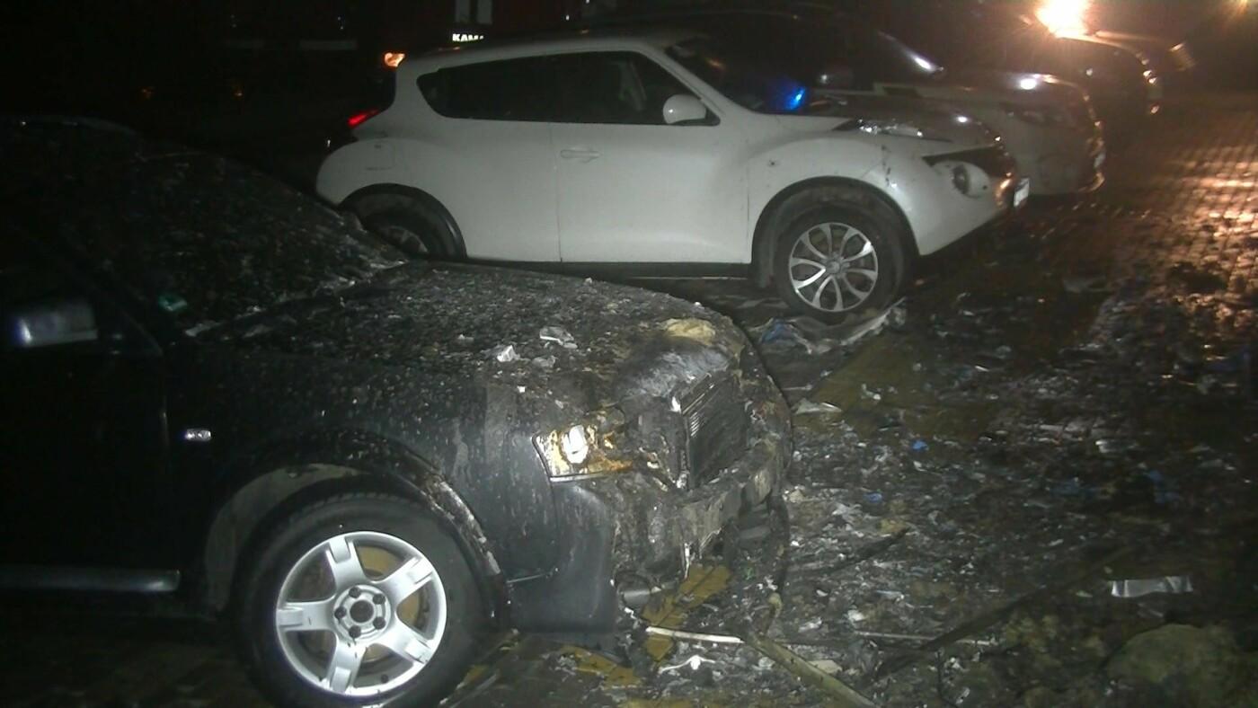 В Харькове загорелся спортклуб: огонь повредил припаркованную рядом машину, - ФОТО, ВИДЕО, фото-5