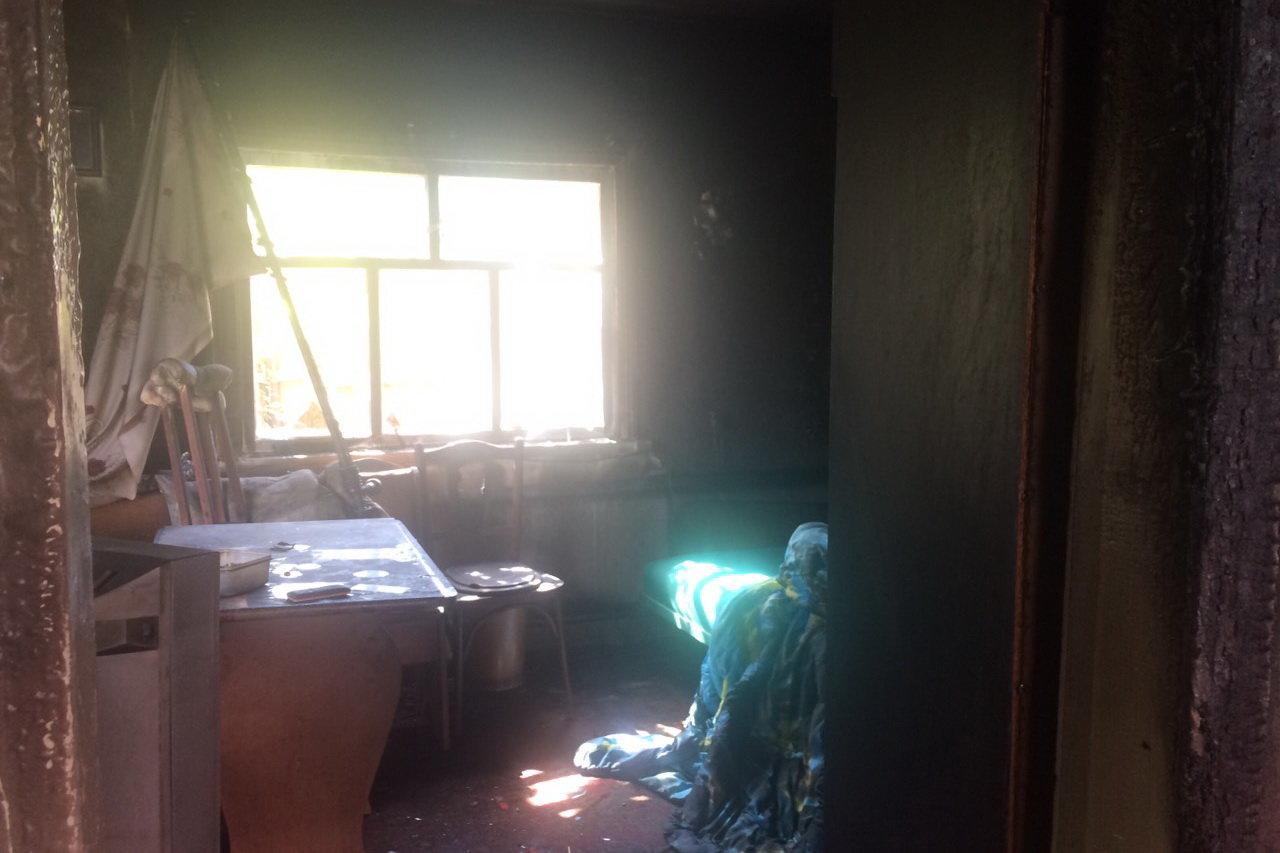 На Харьковщине во время пожара спасатели обнаружили труп пенсионерки, - ФОТО, фото-1