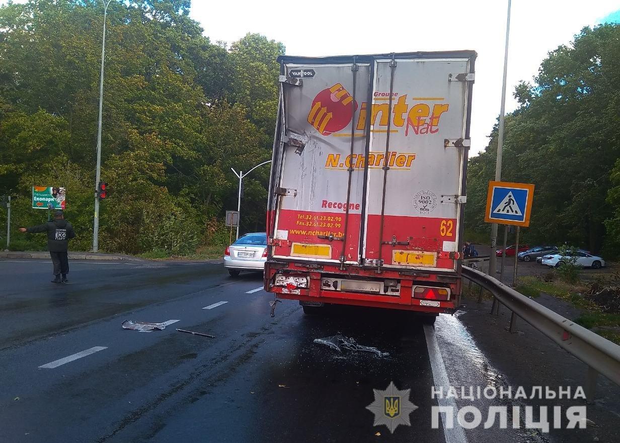 Под Харьковом рейсовый автобус врезался в грузовик. Есть пострадавший, - ФОТО