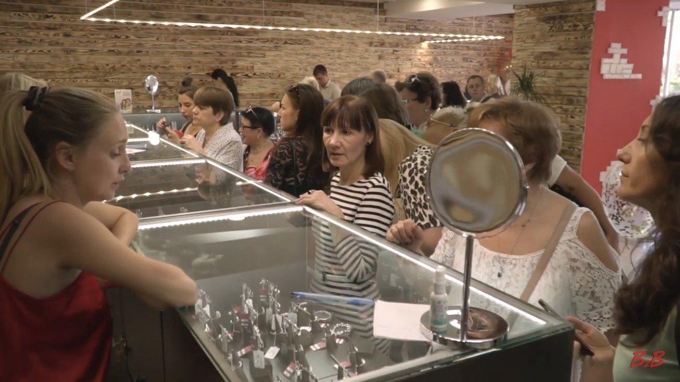 открытие магазина ювелирного завода Шарм в Харькове