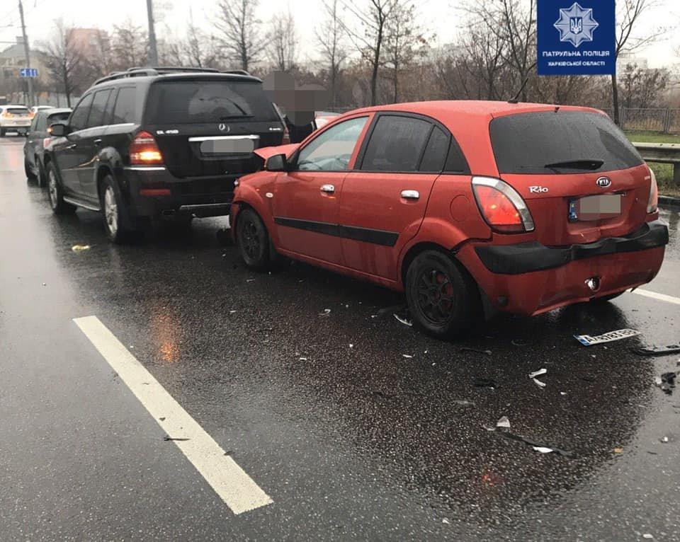 На проспекте Науки столкнулись сразу 4 автомобиля, - ФОТО, фото-2