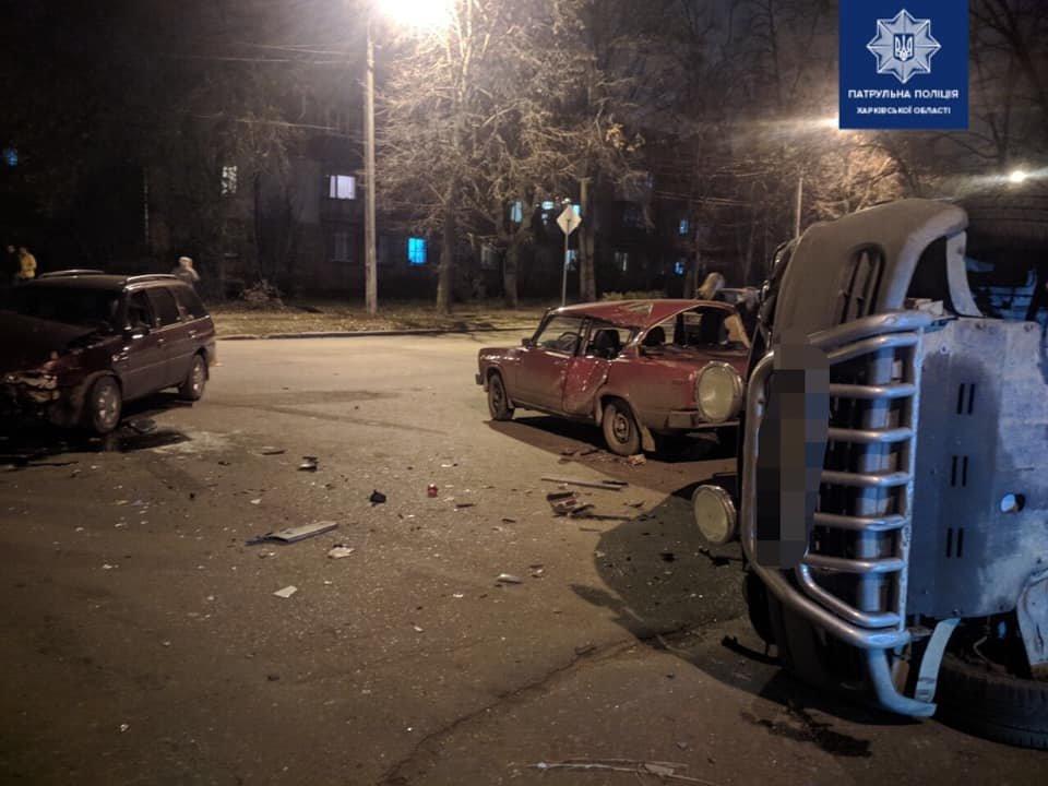 В Харькове произошло тройное ДТП. Одна из машин перевернулась, - ФОТО, фото-3