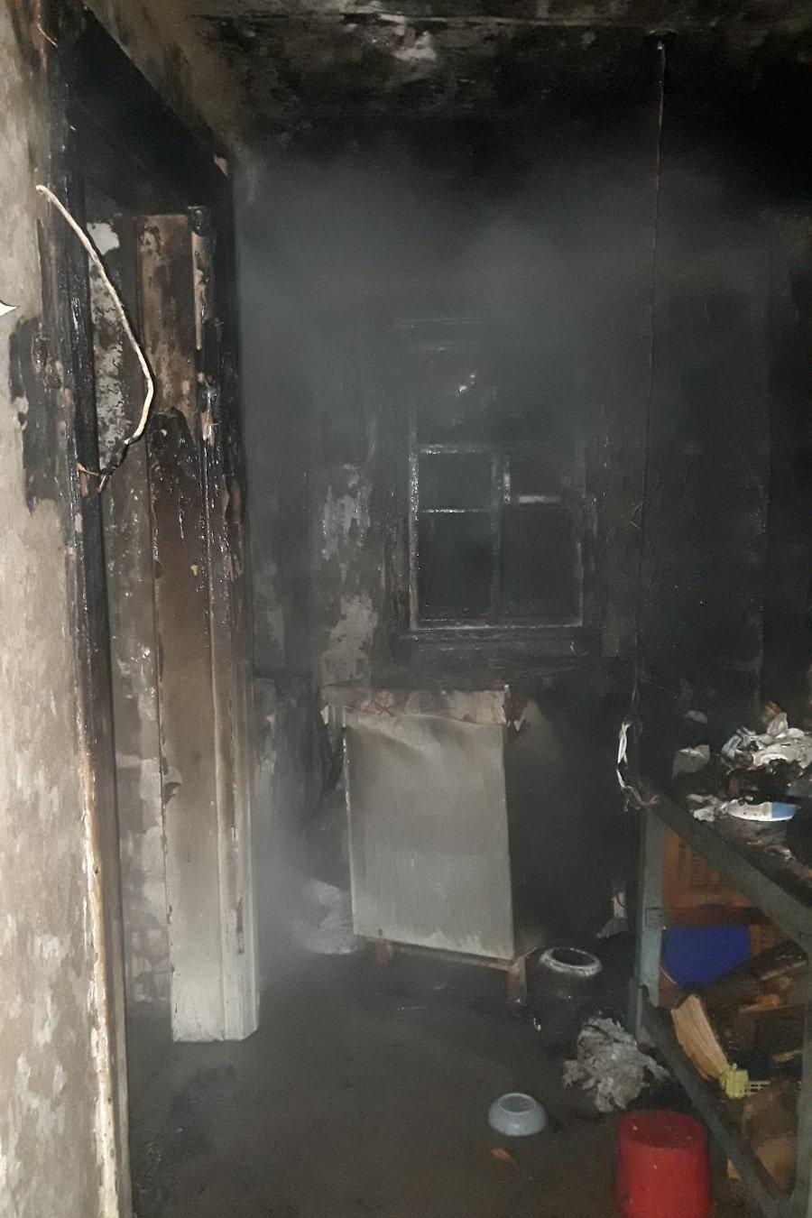 На Харьковщине спасатели несколько часов тушили пожар в доме: хозяйка отравилась угарным газом, - ФОТО, фото-1