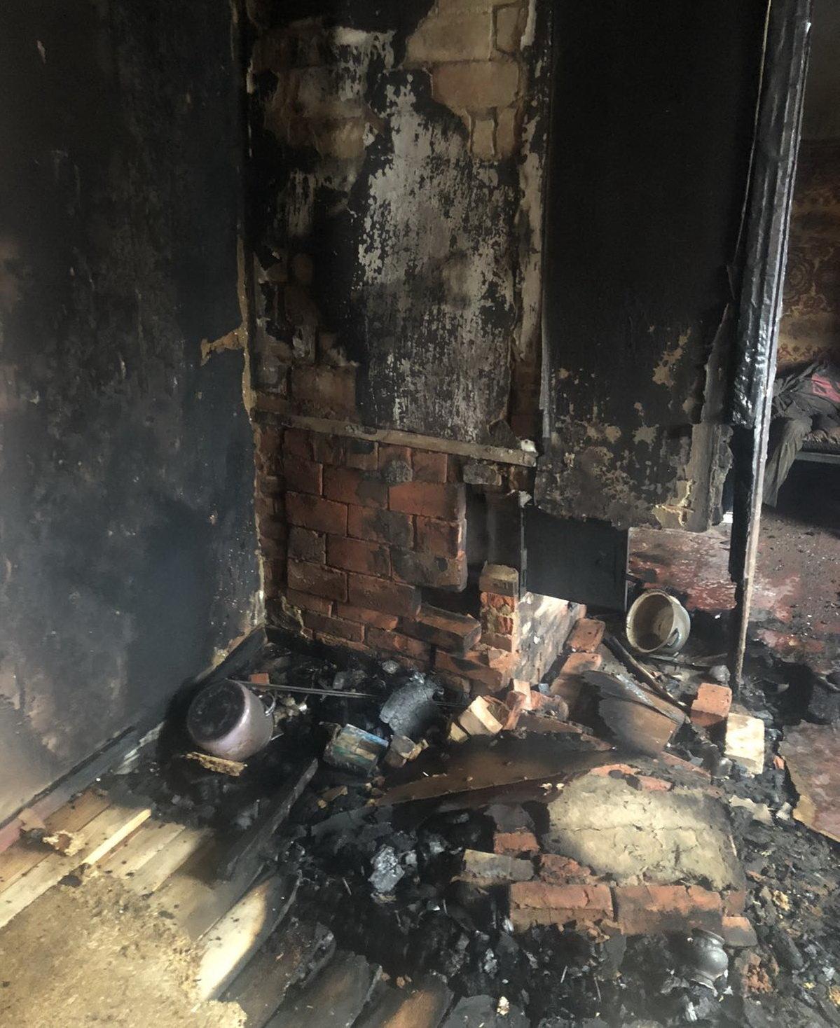 Отравился угарным газом: на Харьковщине во время пожара погиб пенсионер, - ФОТО, фото-1