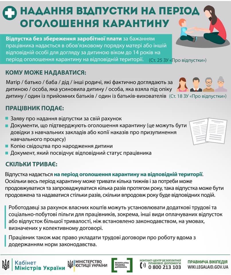 Отпуск в период карантина: в Минюсте рассказали, какие права имеют работающие родители , фото-1