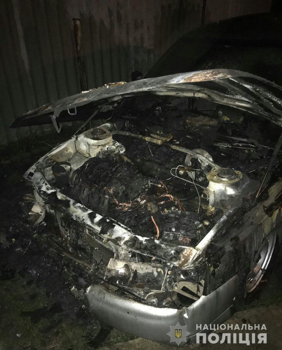 На Холодной горе неизвестные сожгли машину, - ФОТО, фото-1