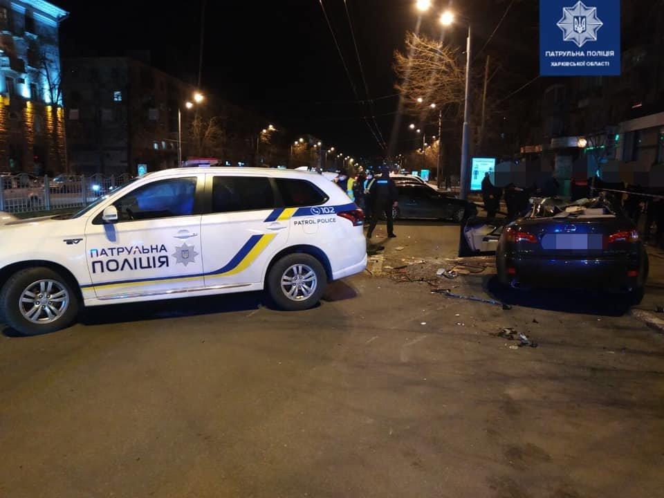 В Харькове патрульные попали в тройное ДТП: пострадали пять человек, - ФОТО, фото-1