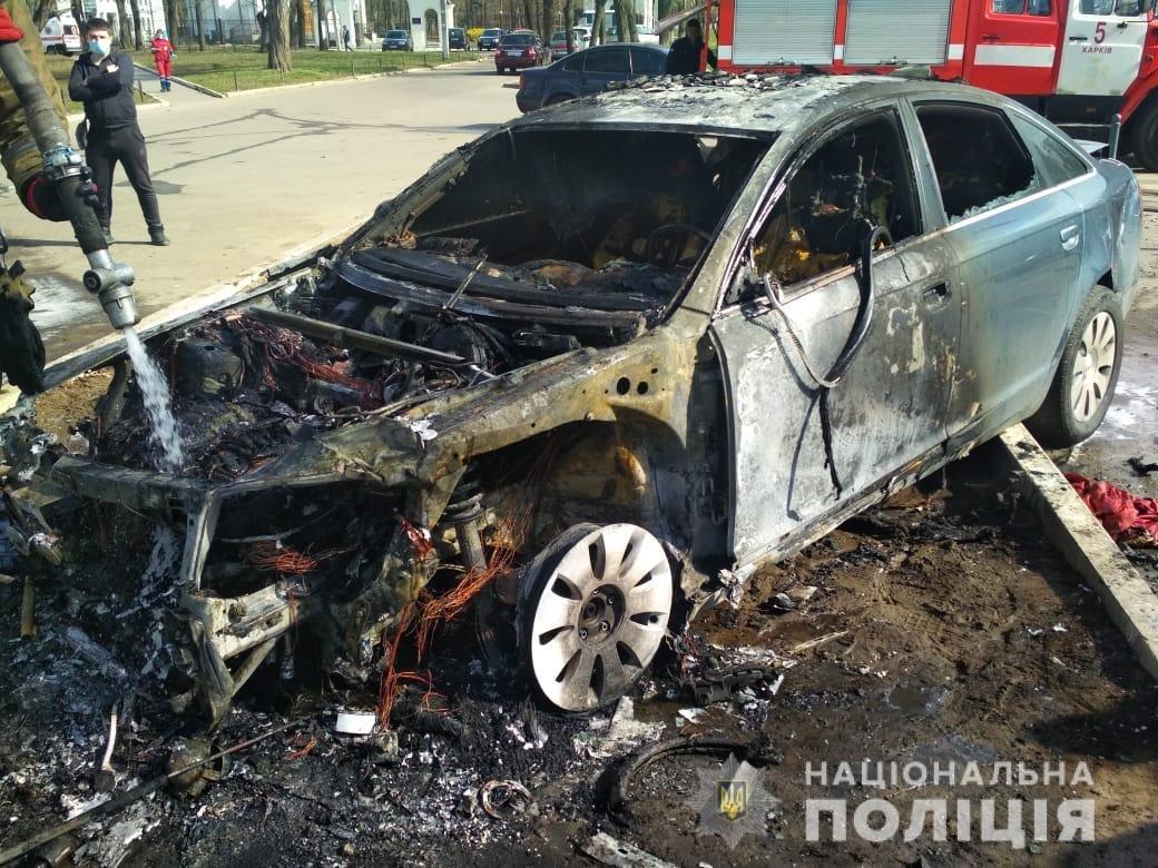 В Харькове столкнулись «Skoda» и «Audi»: один из автомобилей загорелся, два человека пострадали, - ФОТО, фото-1