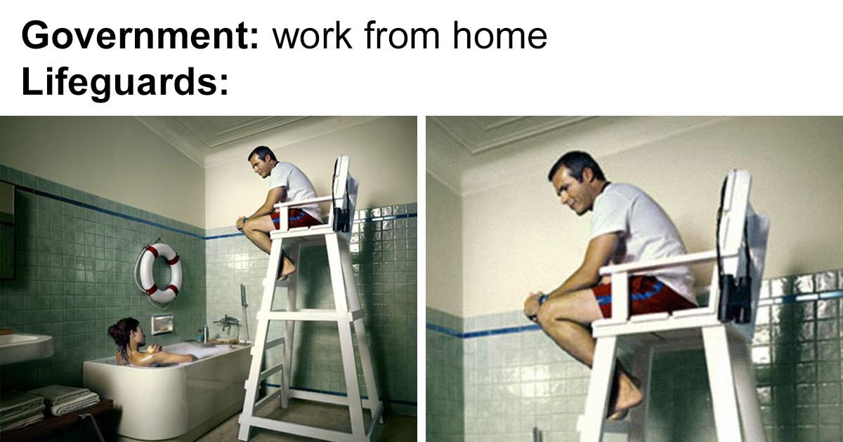 Работа на «удаленке» во время карантина. ТОП-15 смешных мемов, - ФОТО, фото-14