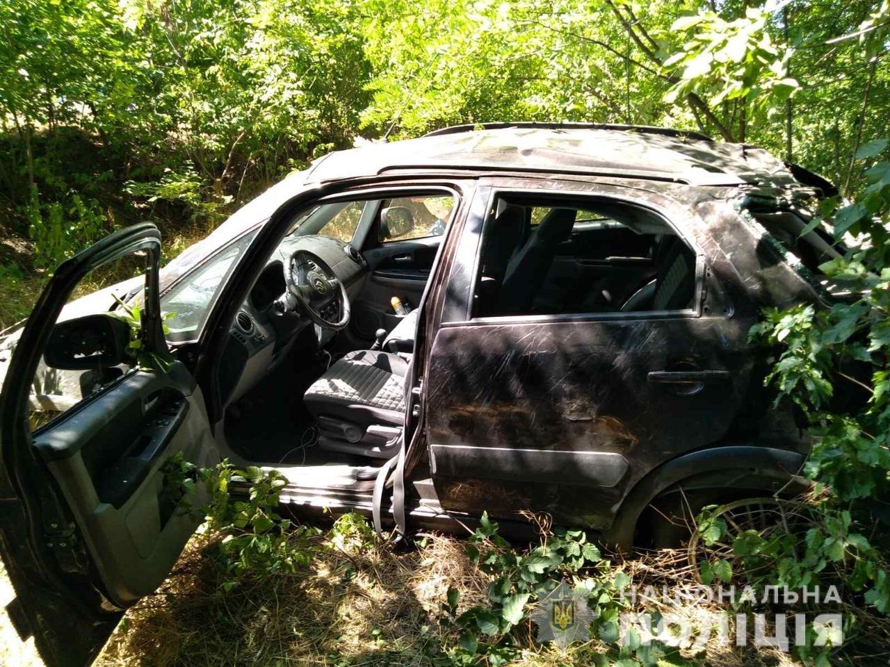 В Харьковской области легковой автомобиль «вылетел» в кювет: 4 человек в больнице, - ФОТО, фото-1