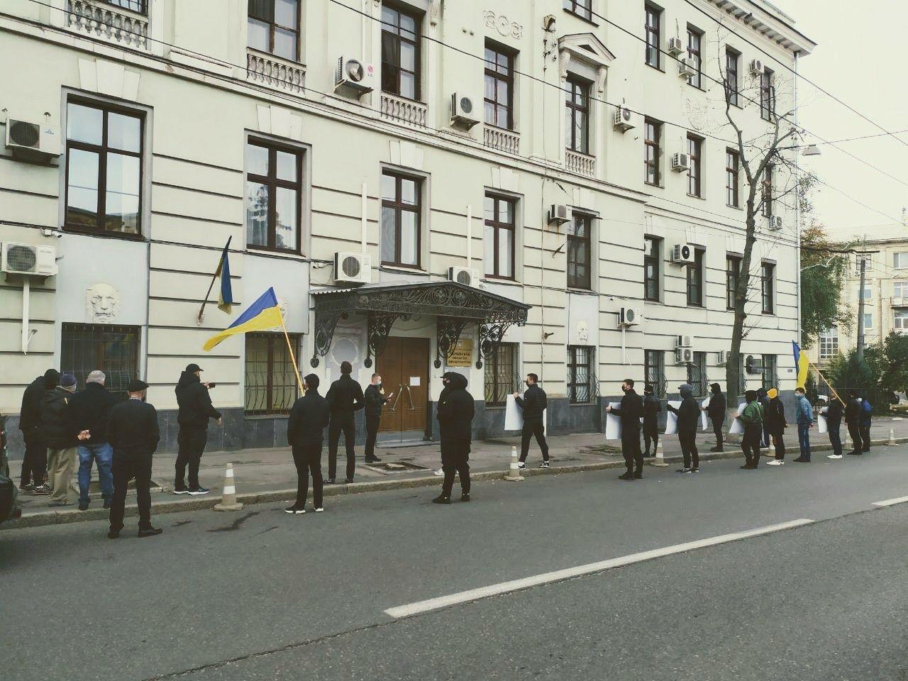 Выделение земли боевикам «ДНР»: в Харькове активисты пикетировали областную прокуратуру, - ФОТО, фото-3