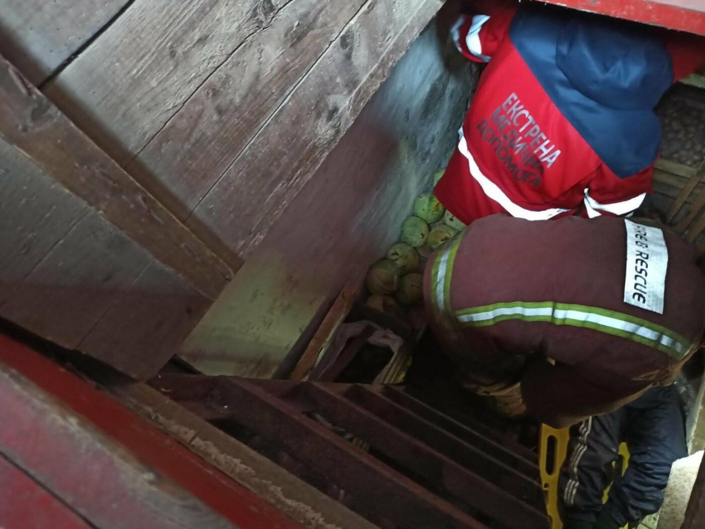Харьковские спасатели помогли пенсионерке, которая упала в погреб, - ФОТО, фото-1