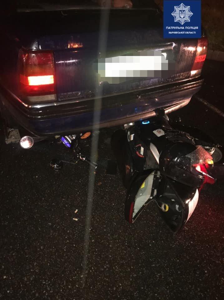В Харькове столкнулись легковой автомобиль и скутер: есть пострадавший, - ФОТО, фото-1