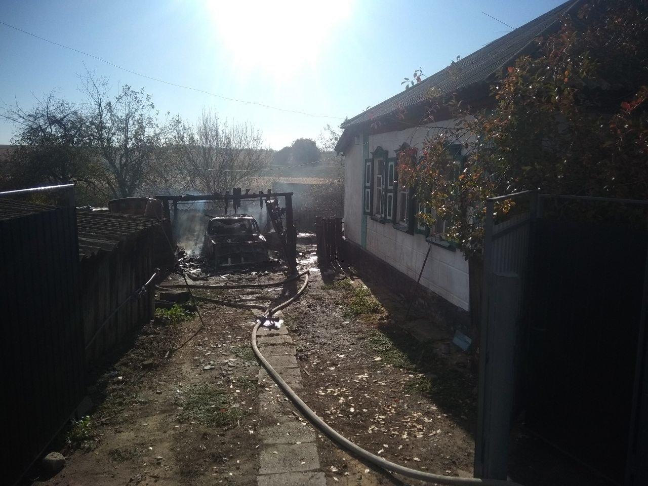 На Харьковщине из-за короткого замыкания полностью сгорел гараж вместе с автомобилем, - ФОТО, фото-4