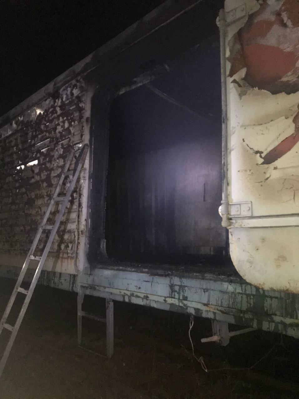 В Харьковской области на железнодорожной станции загорелся рефрижераторный вагон, - ФОТО, фото-2