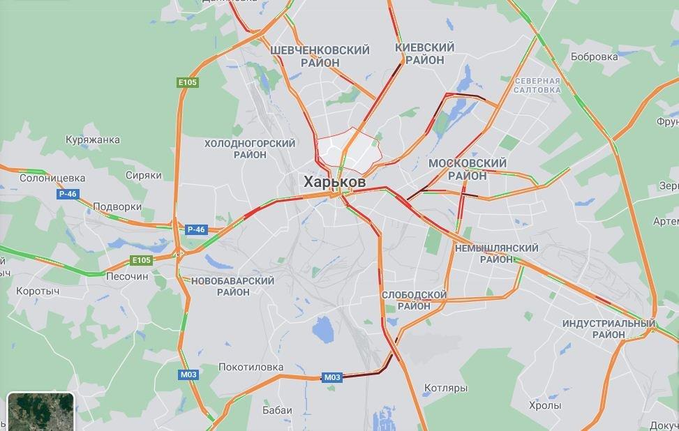 Пробки в Харькове. Где сложно проехать из-за снегопада, фото-1