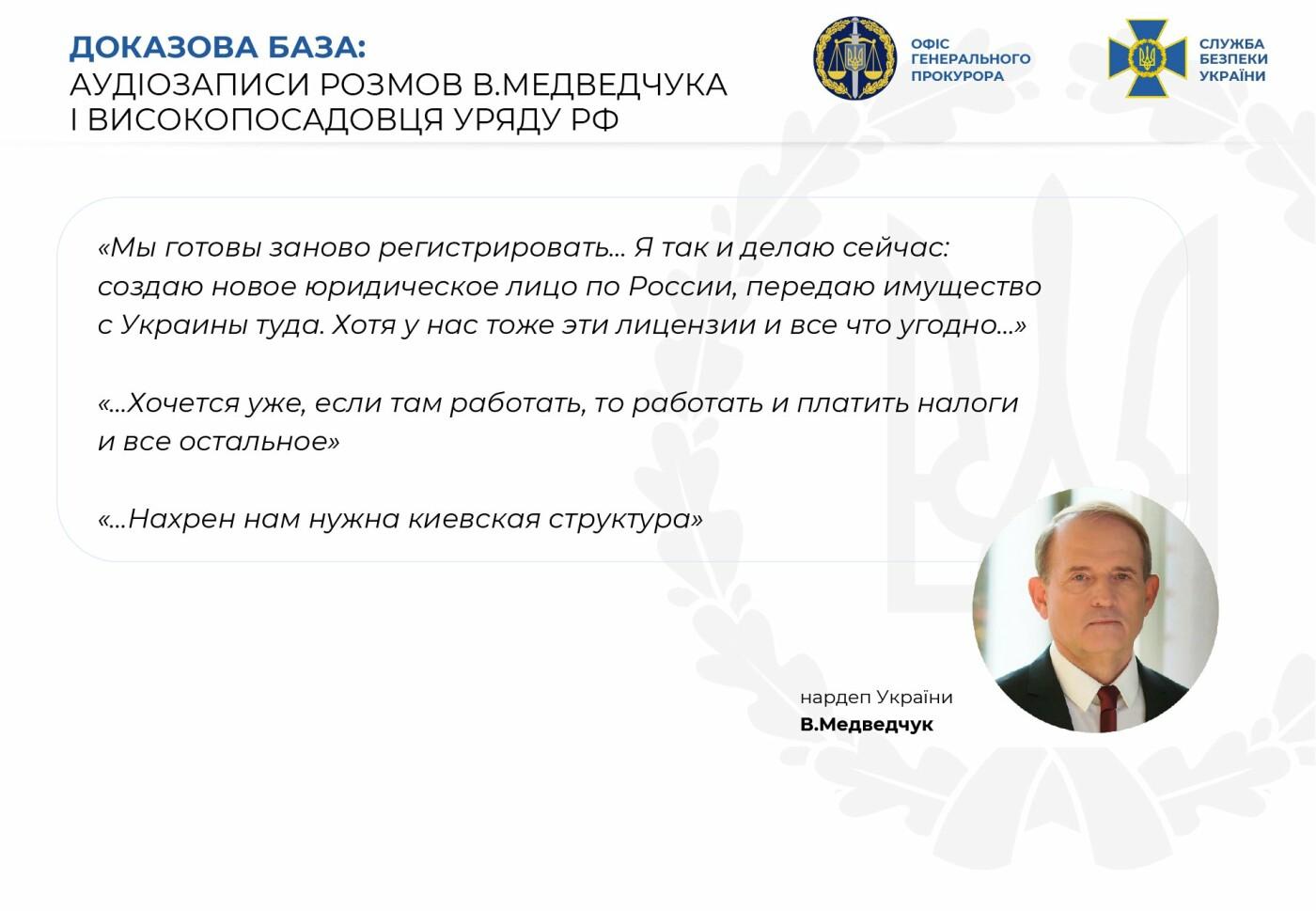 Передача секретных данных о ВСУ и разграбление ресурсов в Крыму: СБУ рассказала подробности подозрения в госизмене Медведчука, - ФОТО, ВИДЕО, фото-3