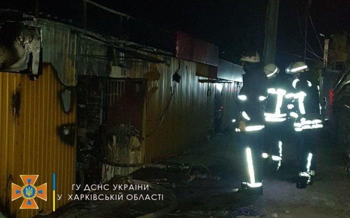 Пожар в Харькове: на Салтовке ночью сгорел продуктовый магазин, - ФОТО | Новости