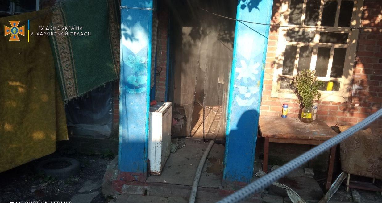 На Харьковщине во время пожара пострадала 18-летняя девушка, - ФОТО, фото-1